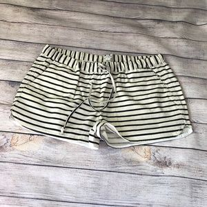 J. Crew Factory Striped Drawstring Shorts Size M
